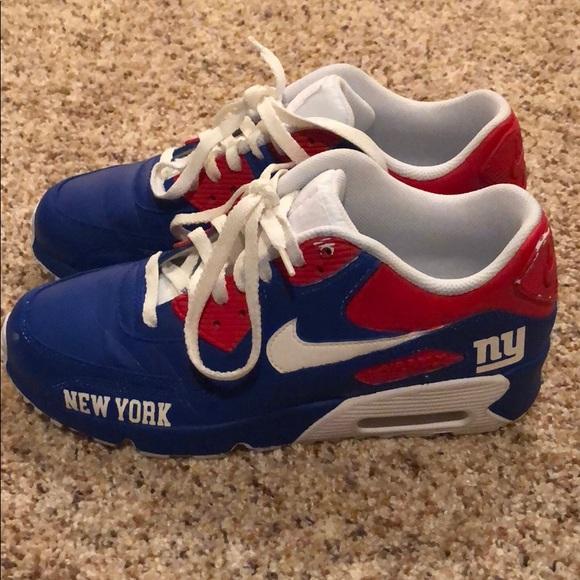 san francisco 07966 f0205 Custom airbrushed NY Giants Nike AirMax. M_5a94b4c6caab44552998f505